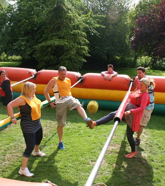 Giant garden games on Queen's Eyot